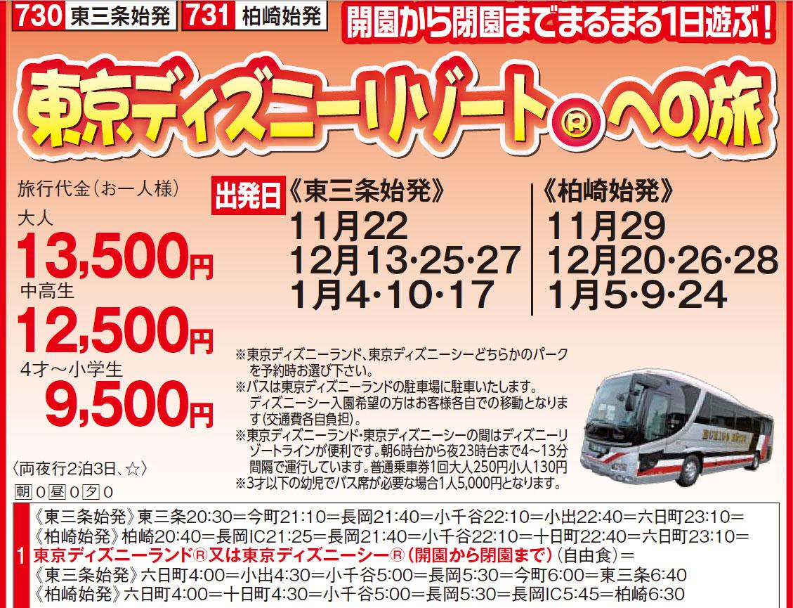 東京ディズニーリゾートツアーなら割引OK!お電話一本025-290-4020送料